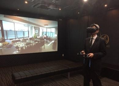 マンションのモデルルームに 「VR(仮想現実)体感ルーム」を設置