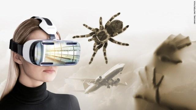 VRで蜘蛛や飛行機、火災の恐怖を克服する