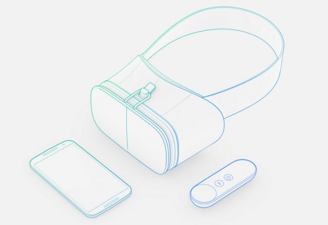 Daydream VRヘッドセットのイメージ図