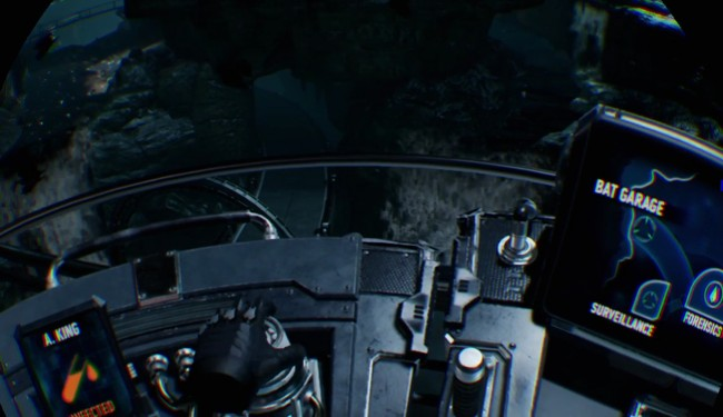 PS4 Proでプレイ時の「Batman Arkham VR」プレイ画面
