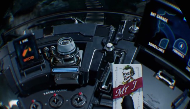 PS4でプレイ時の「Batman Arkham VR」のプレイ画面