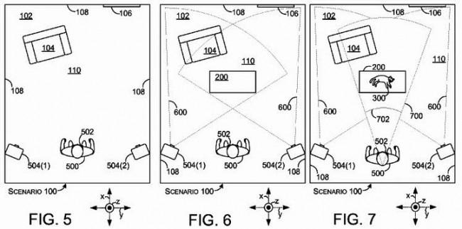 Hololensの死角を補う方法を説明した模式図