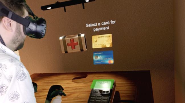 VR空間でクレジットカードを使う