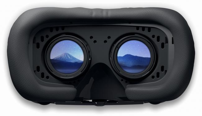 VR Ready ゲーミングPC 右目用の風景と左目用の風景