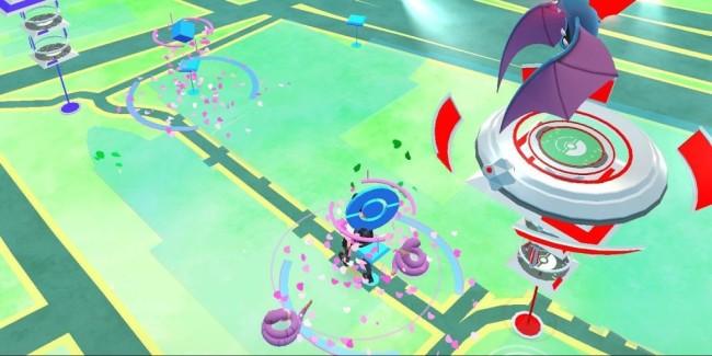 「ポケモンGO」のゲームマップ