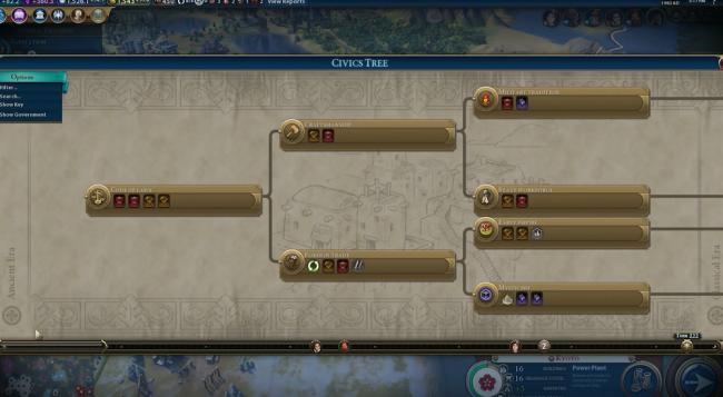 ゲーム「CIVILIZATION Ⅵ」の技術ツリー
