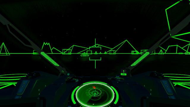 Battlezoneのクラシックモード画面