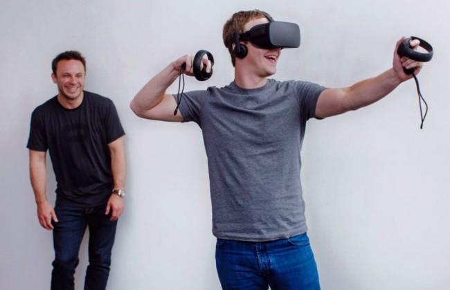 Oculus Touchを使うZuckerberg