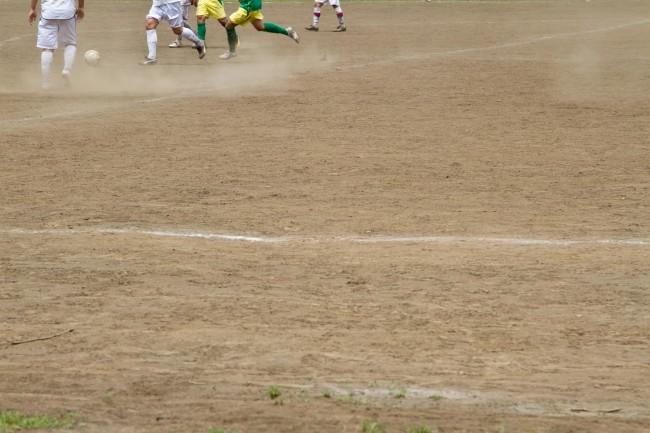 サッカーの試合が行われるグラウンド