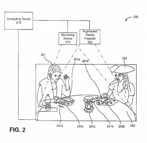 図1:Disneyが特許申請中のARシステムの基本構成図