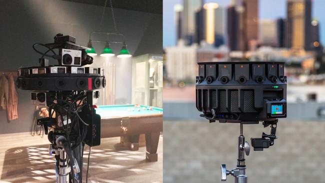 左画像はGoogleが開発sita 360°カメラ「Odyssey」、右画像はその後継機種「HALO」。どちらもOptical Flowに対応
