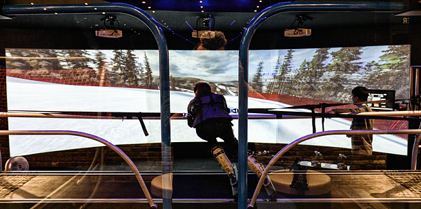 VRでスキーの練習を