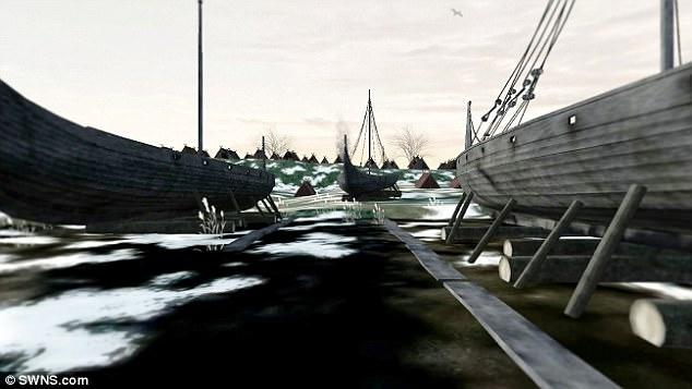 船の修理現場