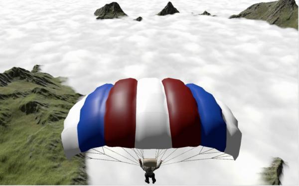 VRイベント向けパッケージ「VR PARAGLIDER CG」画面イメージ