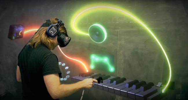 VRで楽器をコントロール