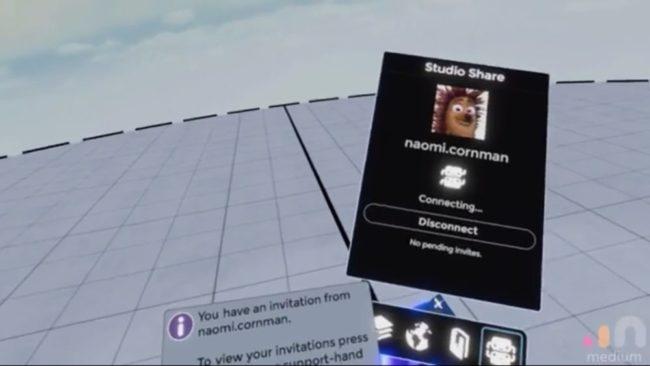 Oculus Medium-Studio Share