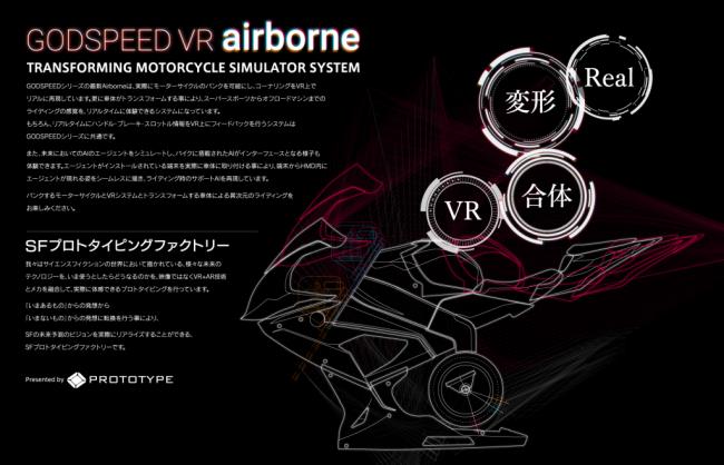 VRバイクシミュレーター『GODSPEED VR airborne』イメージ