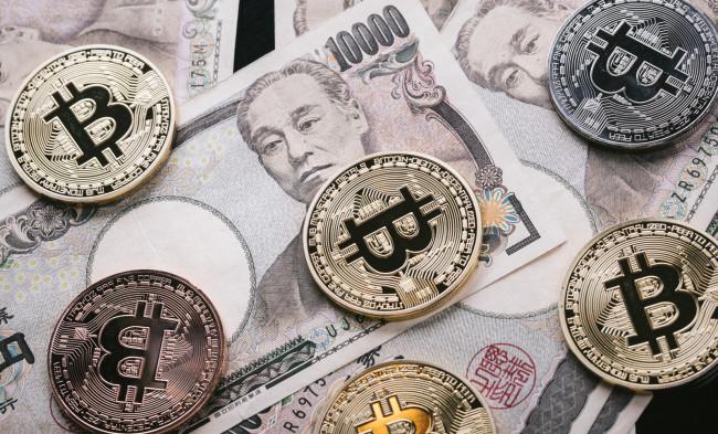 紙幣とビットコイン