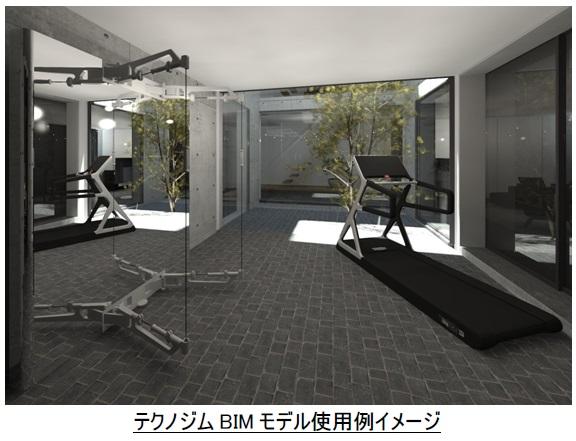 テクノジムBIMモデル使用例イメージ