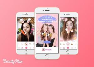 BeautyPlusの新機能バーチャルリアリティー自撮り撮影例