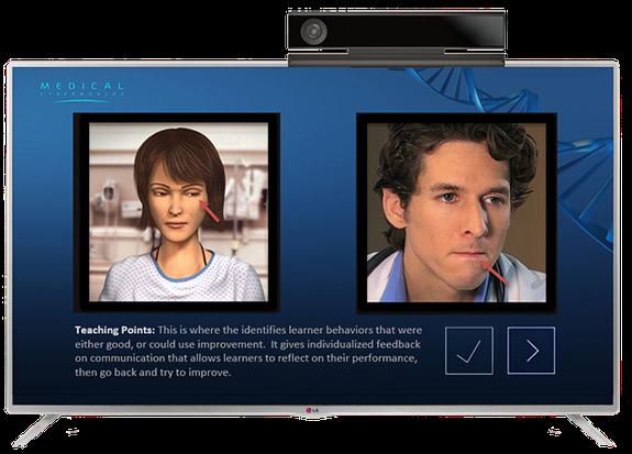 医師とキャラクターのコミュニケーション