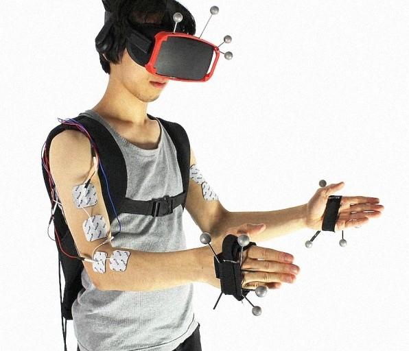 VR連動で筋肉に電気を流すシステムは触覚を再現する最終手段?