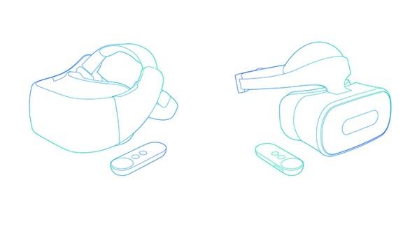 スタンドアロンタイプのDaydreamヘッドセットイメージ図