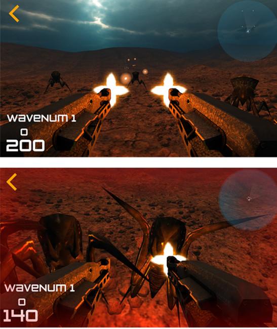「異星人との遭遇」ゲームプレイイメージ