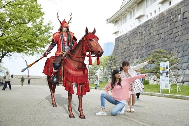AR真田幸村と記念撮影