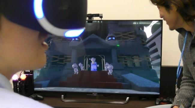 THE PLAYROOM VRのプレイ画面。