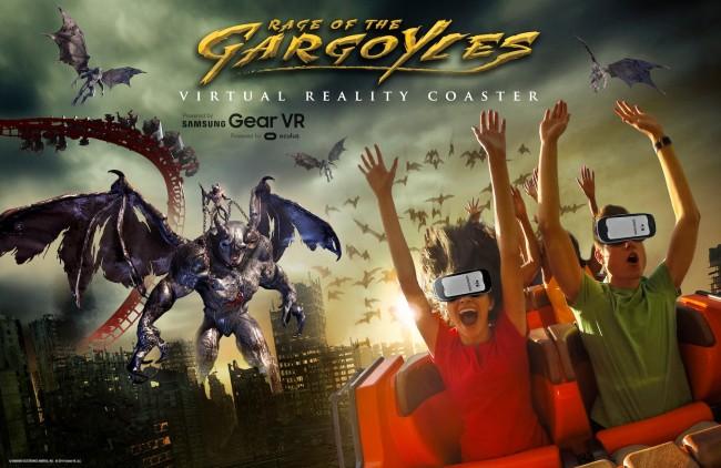 アメリカのジェットコースターテーマパークSix FragにVRを使ったアトラクション「Rage of the Gargoyles」が登場