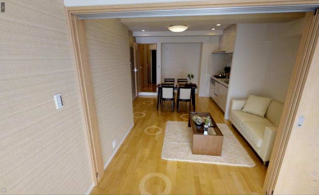中古マンション物件情報サイト「リンネ」で紹介されている3D動画イメージ