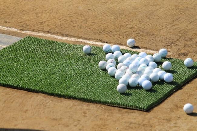 ゴルフボールがたくさん