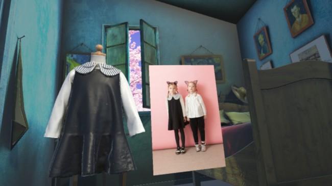 子供服と展示空間の様子