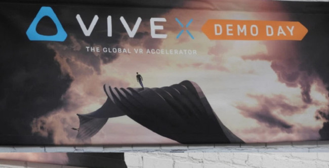 Vive X Demo Dayの広告
