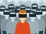 VRヘッドセットを付けた人たちのイラスト