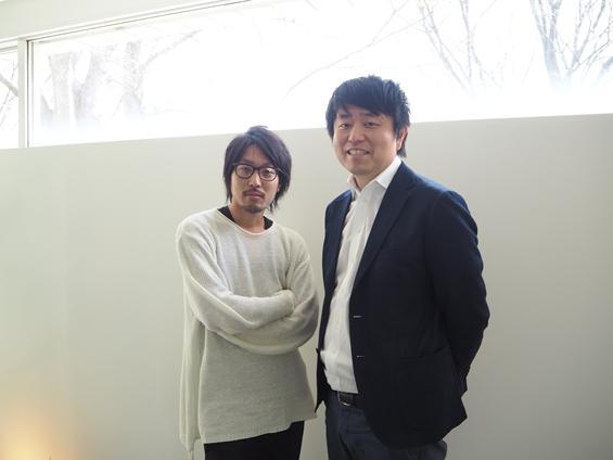 左:VRize代表取締役 正田氏 右:アドバイザー 彌野氏