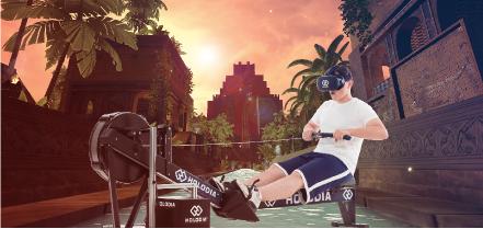 最先端VRフィットネスマシーンが『レジャー&サービス産業展2017』で公開へ