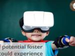 バーチャルに子供の目線を体験できるVR動画サービスのロゴ