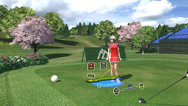 みんなのゴルフVRプレイ画面