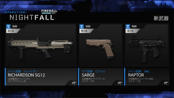 ファイアウォール・ゼロ・アワーに追加された3つの新しい武器