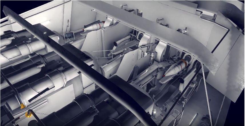 戦艦大和の大砲内部