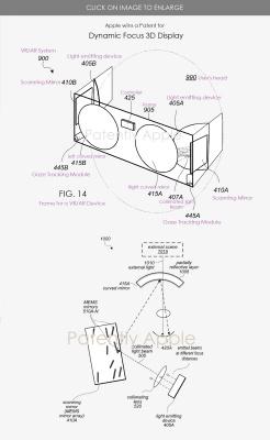 公開された網膜プロジェクター方式のMRヘッドセットの特許申請