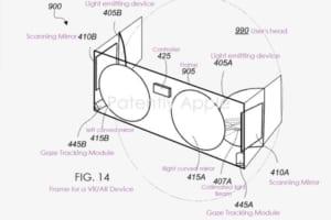 ディスプレイなし?Appleが網膜プロジェクター方式のMRヘッドセットの特許を申請