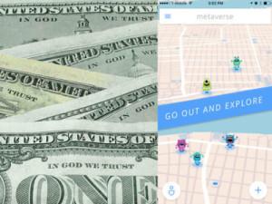 お札とアプリ内のマップ