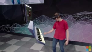 ホロレンズ2ではピアノを演奏することもできる