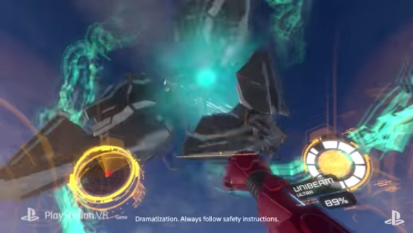 アイアンマンVRパンチで敵を撃破