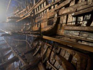 メアリー・ローズの船体