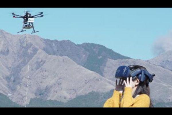 VRニュースイッキ見_5Gドローンで阿蘇の観光スポットを空中散歩