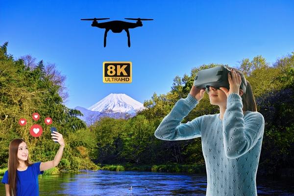 VRニュースイッキ見_8K VR×ドローンで日本三大清流「柿田川」をPR